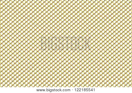 Gold wire mesh pattern background vector illustration.