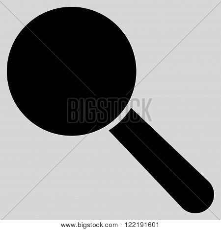 Explore Tool vector icon. Picture style is flat search tool icon drawn with black color on a light gray background.