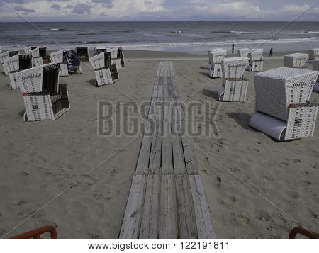 the beach and the dunes of wangeroog