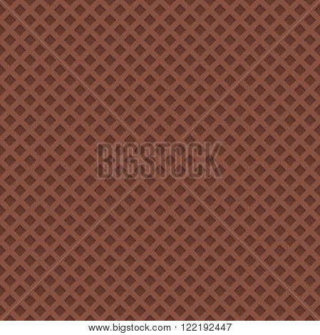 Seamless chocolate wafer background. Wafer vector illustrator.