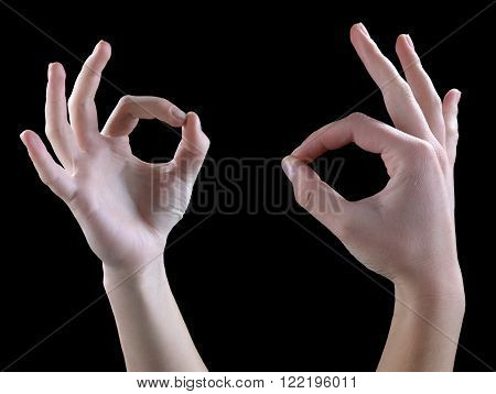 Gestures of hands