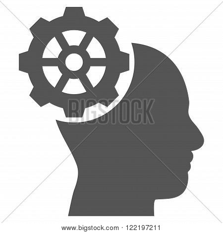 Head Gear vector icon. Picture style is flat head gear icon drawn with gray color on a white background.