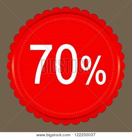Sale coupon design save up to 70 percents