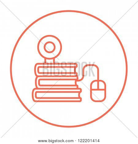 Online education line icon.