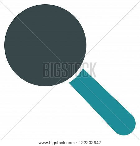 Explore Tool vector icon. Picture style is bicolor flat search tool icon drawn with soft blue colors on a white background.