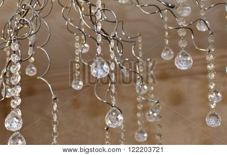 A semi abstract background of chandelier crystals