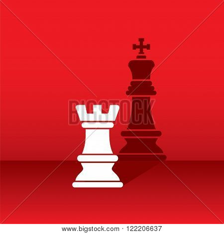 rook show as king in shadow design vector