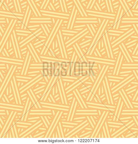 Seamless Vector Interweaving Lines Autumn Nature Pattern Background