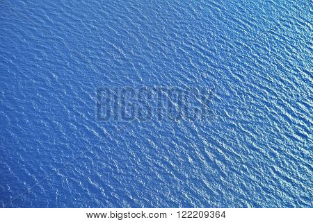 Sea surface, view from the airplane, background