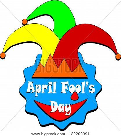 April Fool s Day sing on white background