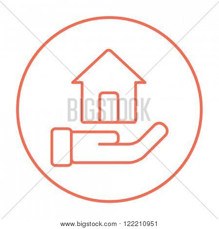 House insurance line icon.