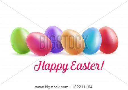 Set of realistic colored eggs. Chicken Easter eggs. Icon egg. Easter eggs vetornaya illustration.