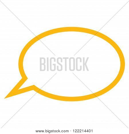 Hint Cloud vector icon. Picture style is flat hint cloud icon drawn with yellow color on a white background.