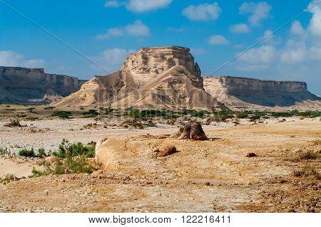 Landscape in Wadi Shuwaymiyah in Sultanate Oman