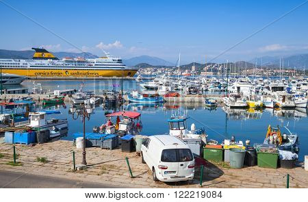 Port Of Ajaccio, The Capital Of Corsica
