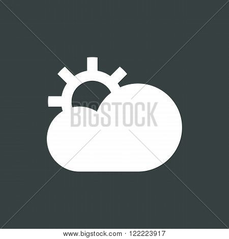 Cloud Configure Icon, On Dark Background, White Outline, Large Size Symbol