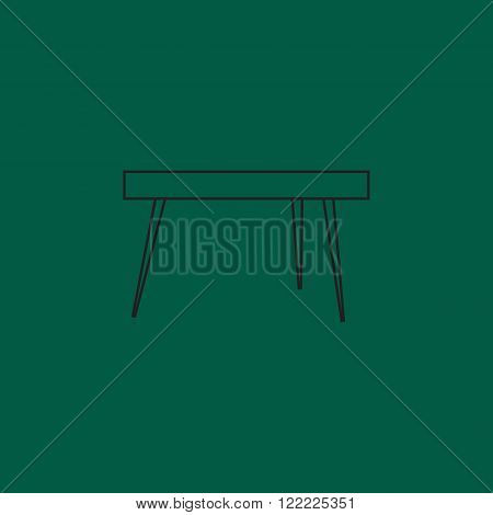 Outline Table in living room flat icon