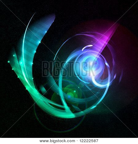 abstract Background with Space fantastische Organismus