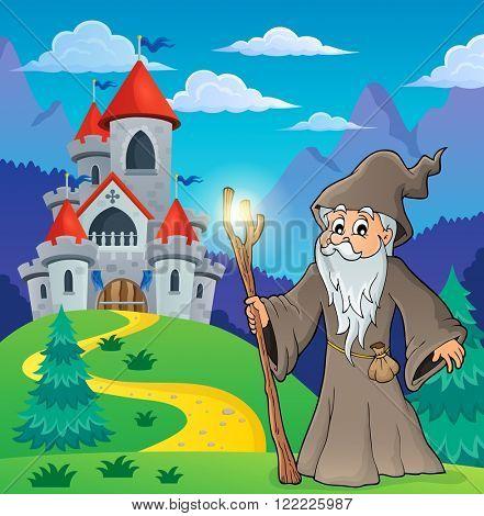 Druid theme image 6 - eps10 vector illustration.