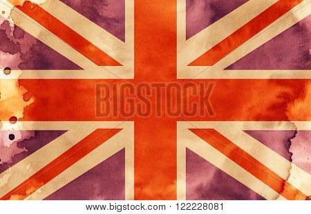 An illustration of the Union Jack Flag.