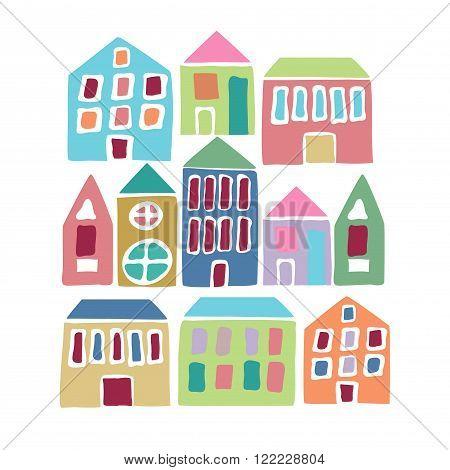 Cartoon Colorful Houses