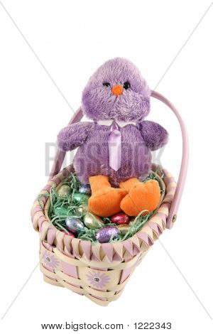 Chick In Easter Basket