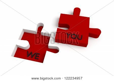Missing puzzle piece we and you red