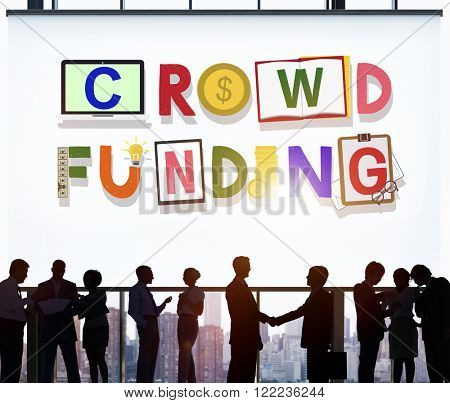 Crowdfunding Fundraising Contribution Investment Concept