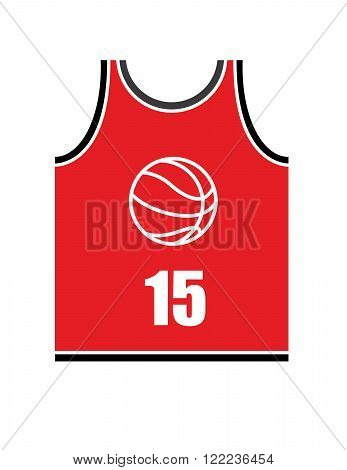A vector illustration of a red basketball jersey