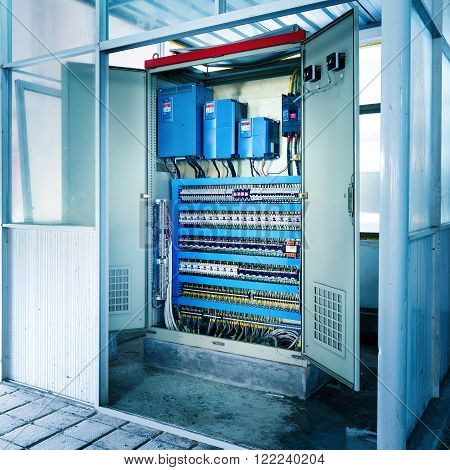 Factory automation machinery control room control box