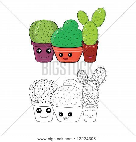 Coloring With Cacti