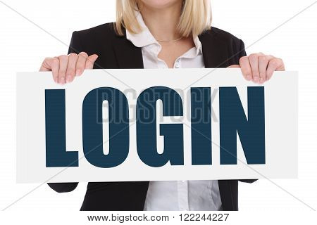 Login Register Password Internet Security Computer Business Concept