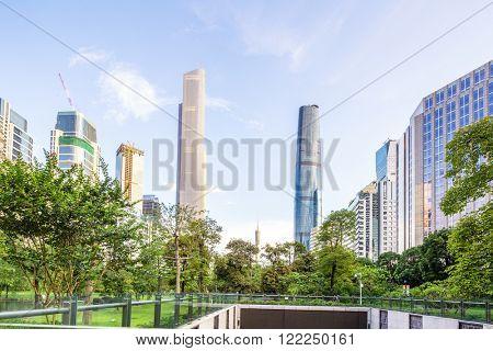 modern buildings in guangzhou