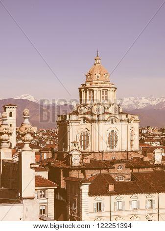 San Lorenzo Church, Turin Vintage