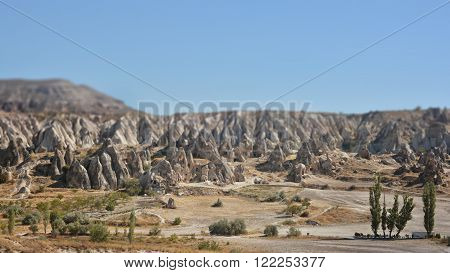 Landscape With Fairy Chimneys, Cappadocia, Nevsehir,  Turkey