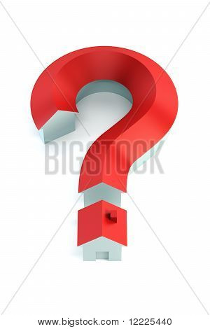 Question Mark Isolated 3D Render