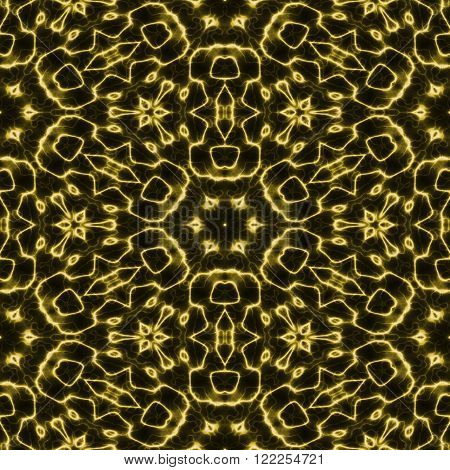 Abstract yellow glow light electric plasma seamless background