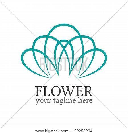 Abstract flower logo template. Floral logo. Spa logo. Flower shop logo. Minimal floral logo. Colorful flower. Business logo template. Flower outline icon