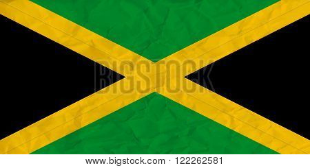 Vector image of the Jamaica  paper  flag