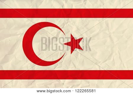 Vector image of the Northern cyprus paper  flag