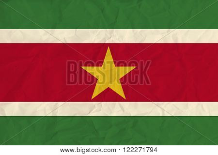 Vector image of the Surinam  paper  flag
