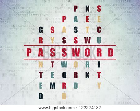 Safety concept: Password in Crossword Puzzle