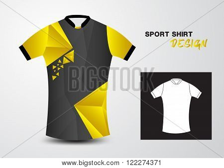 Yellow T-shirt sports isolated uniform vector illustration design