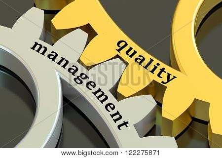 Management and Quality concept on the gearwheels