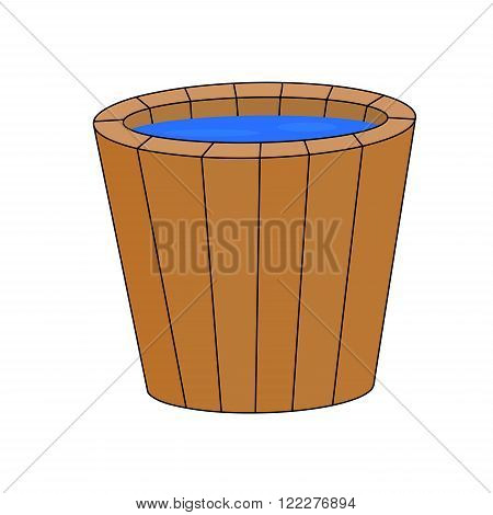 Sauna Bucket, Vector Symbol , Icon  Design. Illustration Isolated On White Background.