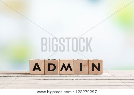 Admin Login Sign On A Table