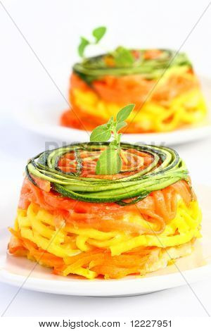 italian pasta with zucchini and carrot