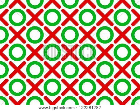 vector illustration tic tac toe seamless wallpaper