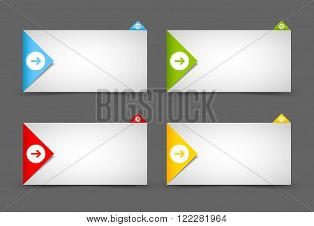 Origami style notification window or paper background document template