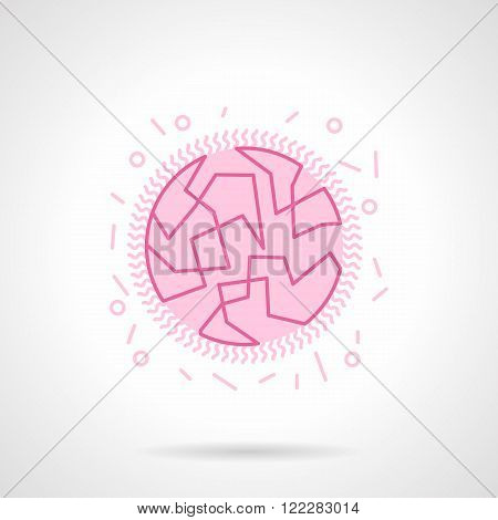 Bacterial genome flat pink vector icon
